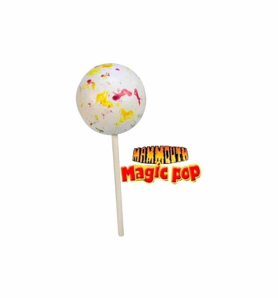 Le bonbon mammouth super-long à manger!!! Au cœur de ce bonbon, vous retrouverez un délicieux chewing-gum.